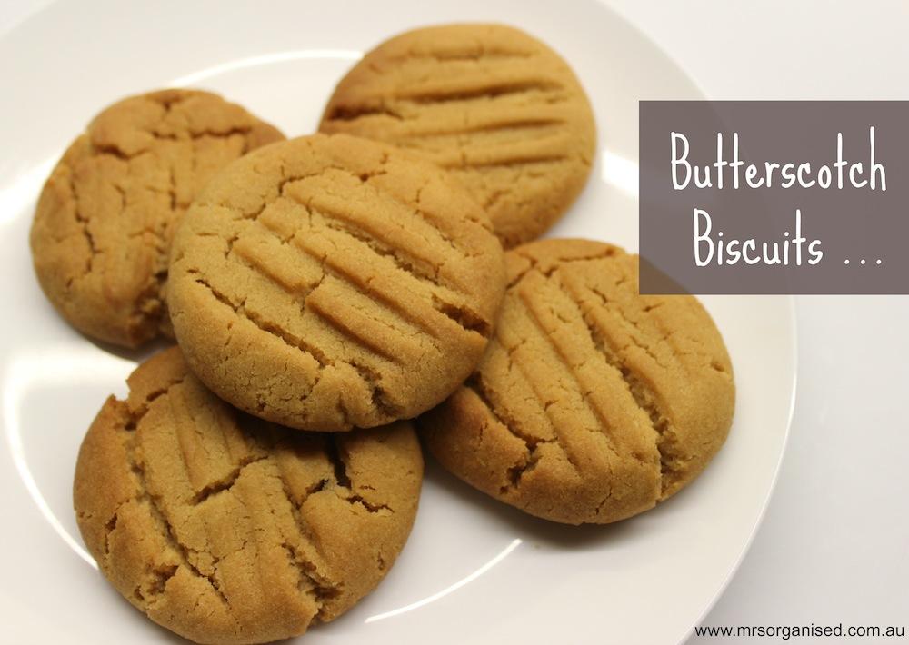 Biscuits au butterscotch